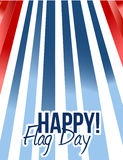 Happy flag day us background illustration design Royalty Free Stock Photography
