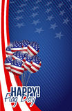 Happy flag day us balloons background Stock Photography