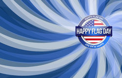 Happy flag day us blue wave background Royalty Free Stock Photo