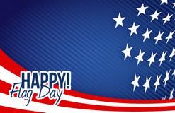 Happy flag day us flag background illustration Royalty Free Stock Photo