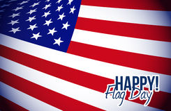 Happy flag day us flag background Royalty Free Stock Photo