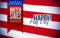 Happy flag day us flag and banner Stock Photo