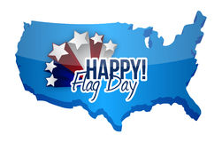 Happy flag day us map illustration design Royalty Free Stock Photo