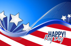 Happy flag day us patriotic background Stock Photography