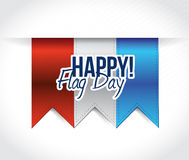 Happy flag day us red, white and blue banners Stock Photography