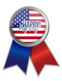 Happy flag day us ribbon illustration Stock Photo