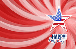 Happy flag day us star background illustration Royalty Free Stock Photo