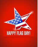 Happy flag day us star flag illustration design Royalty Free Stock Photo
