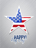 Happy flag day us star illustration design Royalty Free Stock Photo
