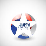 Happy flag day us star illustration design Stock Images