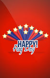 Happy flag day us stars background Stock Photo