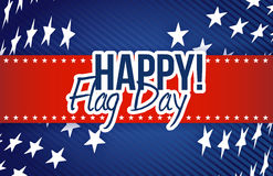 happy flag day us stars background illustration Stock Photos
