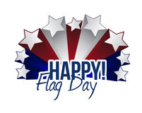 Happy flag day us stars illustration design Royalty Free Stock Photos