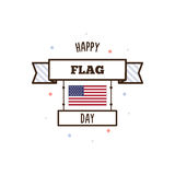 Happy Flag Day. Vector illustration. Happy Flag Day. Banner. Vector illustration Stock Photography
