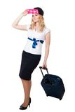 Happy Flight attendant Royalty Free Stock Photo