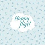 Happy flight. Seamless planes pattern Stock Images