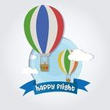 Happy flight Royalty Free Stock Photos