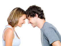 Happy flirting couple Stock Photo