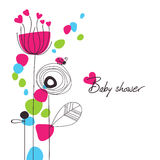 Happy floral baby shower Stock Photography
