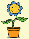 Happy Flower. Represent a smiling flower in a pot Royalty Free Stock Photo