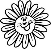 Happy flower cartoon Vector Clipart Stock Photos