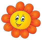 Happy flower head theme image 1 Royalty Free Stock Photo
