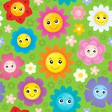 Happy flower heads seamless background 1 Royalty Free Stock Photos