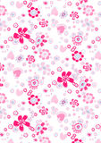 Happy flower repeat pattern. Vector illustration of a floral repeat pattern Stock Images