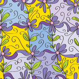 Happy flower square seamless pattern Stock Photography