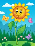 Happy flower theme image 2 Royalty Free Stock Images