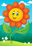 Happy flower theme image 4 Stock Photo