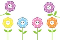 Happy flowers Stock Image
