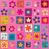 Happy flowers pattern Stock Photos