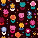 Happy flowers pattern Stock Image