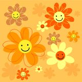 Happy flowers tile Stock Photography