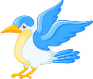 Happy flying bird cartoon Stock Photography