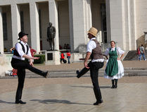 Happy folk dance Royalty Free Stock Image