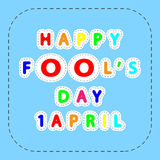 Happy fool`s day Royalty Free Stock Photos