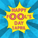 Happy fool`s day Royalty Free Stock Photography