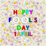 Happy fool`s day royalty free illustration