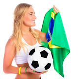 Happy football fan Royalty Free Stock Image