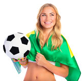 Happy football fan Stock Image