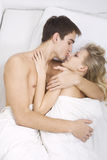 Happy foreplay Stock Images