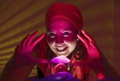 Happy fortune teller Stock Image