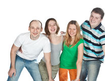 Happy four friends. Stock Photography