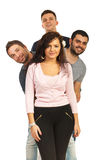 Happy four friends Royalty Free Stock Photos