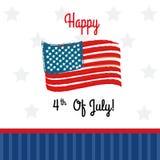 Happy fourt of july Stock Photo