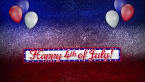 Happy Fourth Glitter stock video footage