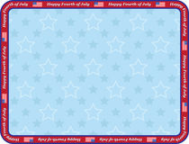 Happy Fourth of July. Congratulation card Royalty Free Stock Image