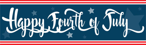 Happy Fourth of July banner Stock Photography